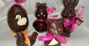 Moulages en chocolat