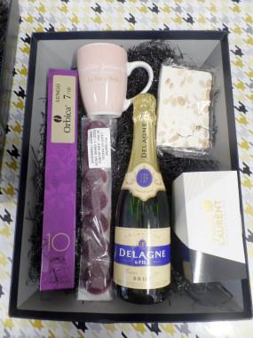 Panier Pause chocolat /champagne